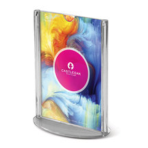 Curved Leaflet Holder - Displayhalter aus Acrylglas