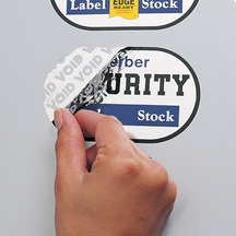 Gerber Security Label Stock VOID
